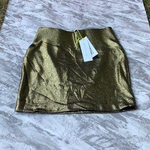 BCBG Metallic Gold ✨ Skirt NWT